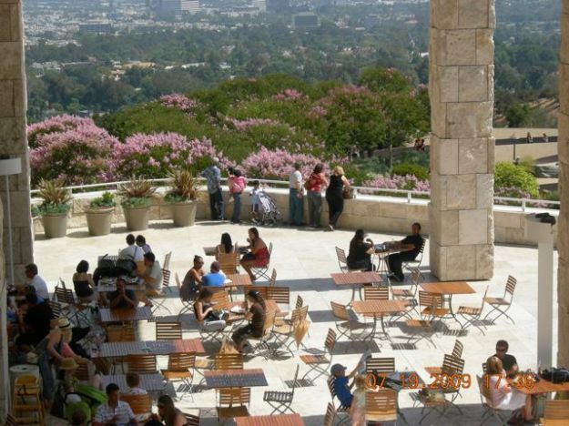 The terrace at the Getty